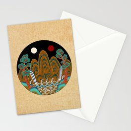 Minhwa: Sun, Moon and 5 Mountains: King's painting C_2 Type Stationery Cards