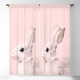 Blush Baby Bunny #1 #decor #art #society6 Blackout Curtain