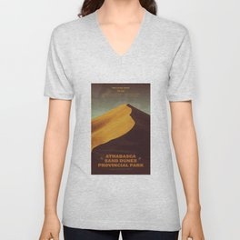 Athabasca Sand Dunes Poster Unisex V-Neck