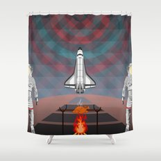 Space Tourism  Shower Curtain