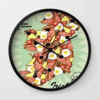 irish Wall Clocks featuring Irish Breakfast by JupiterInLove