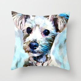 Schnoodle 3 Throw Pillow