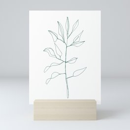 One line plant Mini Art Print