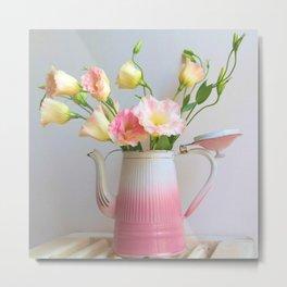 Coffee, Tea or Flowers Metal Print