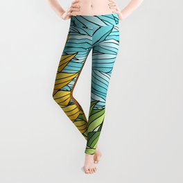 SUNNY DAY (abstract flowers) Leggings