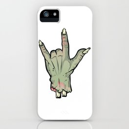 Zombie Devil Horns Undead Severed Hand Halloween T-Shirt iPhone Case