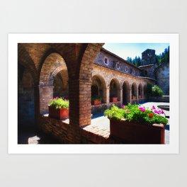 Napa Valley Tuscan Style Castle Art Print