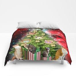 MERRY CHRISTMAS CATS Comforters