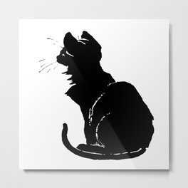 Life With Black Cats Vector Metal Print