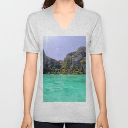 Emerald Water in Phi Phi island Unisex V-Neck