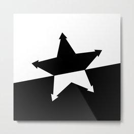 Tilted Star Metal Print