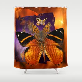 Honey Butterfly Shower Curtain