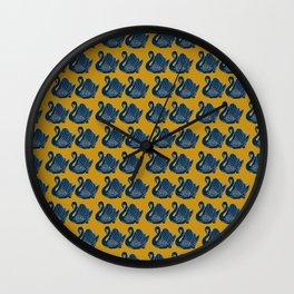 Crown Lynn Swans (Mustard) Wall Clock