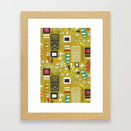 tiki yellow Framed Art Print