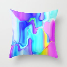 Dripping Paint 3 Throw Pillow