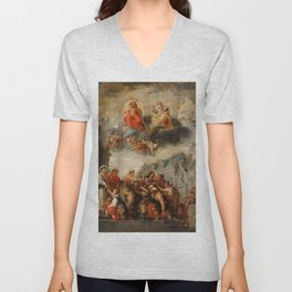 Classic painting of the saints Unisex V-Neck
