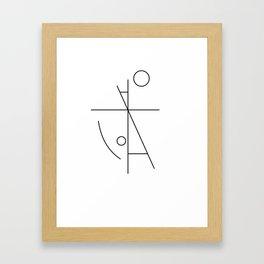 nearly human Framed Art Print