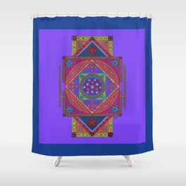 Just Another Roll of the Dice (Blue) Shower Curtain