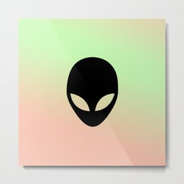 Trippy Alien  Metal Print