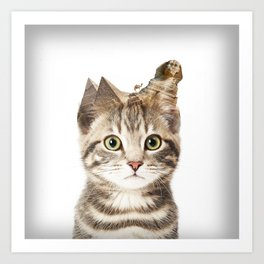 Giza Kittyscape Art Print