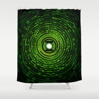 gondor Shower Curtains featuring Green Lantern by Electra