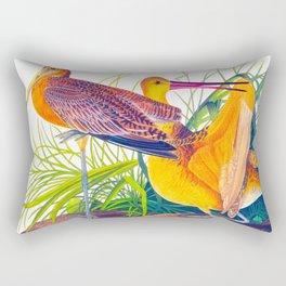 Great Marbled Godwit Bird Rectangular Pillow