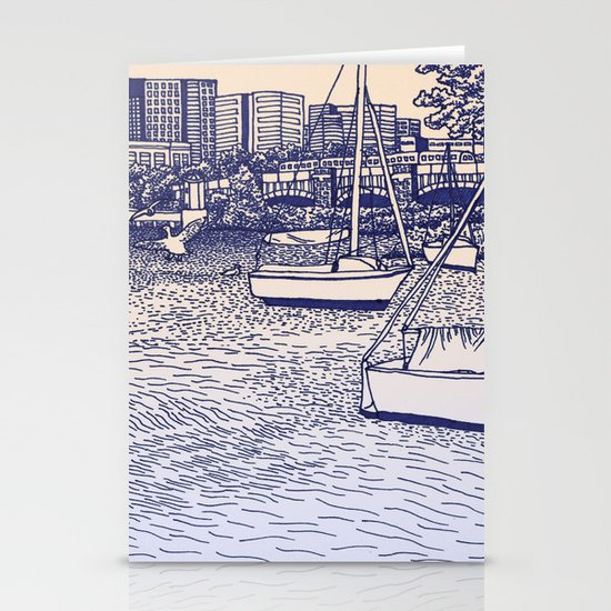 Charles River Esplanade Stationery Cards