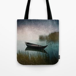 Midnight Paddle in Teal Indigo and Pink Tote Bag