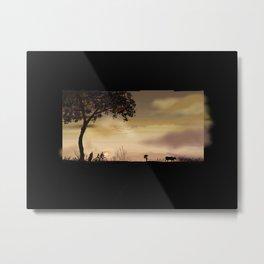 63- Kerala Sunset and landscape Metal Print