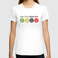wine T-shirts featuring wine by flydesign