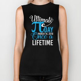 Ultimate Pi Day Funny Math 3.14 Pi Day T-Shirt Biker Tank