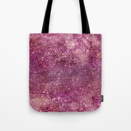 Modern chic faux glitter girly purple pattern Tote Bag