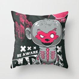 Cartoon Skeleton Throw Pillow