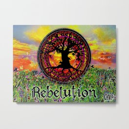 Rebelution Tree of Life Bright Side of Life Beautiful Sunrise/Sunset Landscape Metal Print