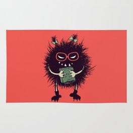 Evil Bug Student Loves To Read Rug
