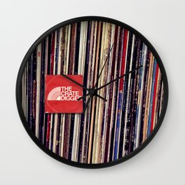 THE CRATE DIGGER FACE Wall Clock