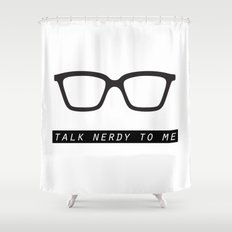 Talk nerdy to me.  Shower Curtain
