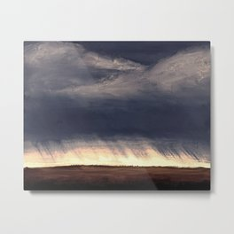 Storm Over Saskatchewan Fields Metal Print