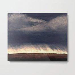 Storm Over Saskatchewan Fields Metal Print