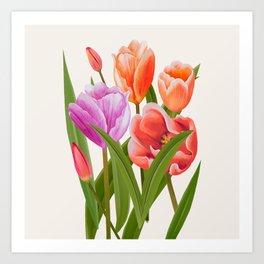 Colorful Flower Bouqet Painting Art Print
