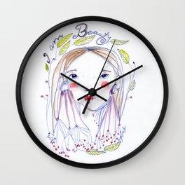 I Am Beauty Wall Clock