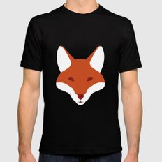 Red Fox Black MEDIUM Mens Fitted Tee