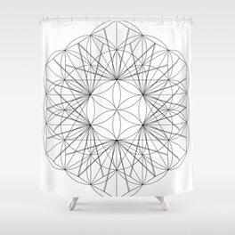 Seed cube rewrite Shower Curtain
