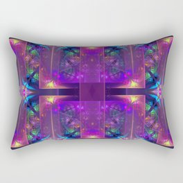 Colourful magic, fractal pattern abstract Rectangular Pillow
