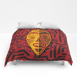 African Tribal Pattern No. 44 Comforters