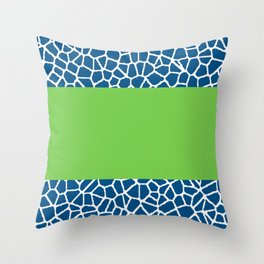 staklo (dark blue with green stripe) Throw Pillow