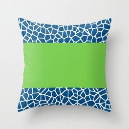 staklo (dark blue with green stripe) Throw Pillow