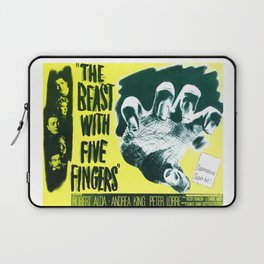 The Beast with five fingers, vintage horror movie poster Laptop Sleeve