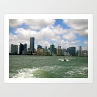 miami Art Prints featuring Miami  by JP Smadbeck