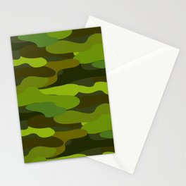 Camo-licious Collection: Wild Jungle Green Camouflage Pattern Stationery Cards